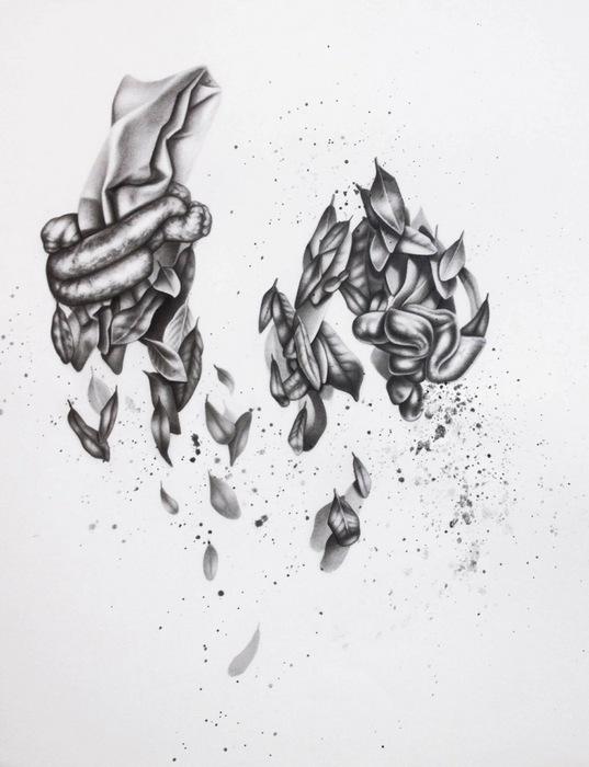 """Lauren Yandell- """"In Knots""""(18""""x 22"""") - $1800"""
