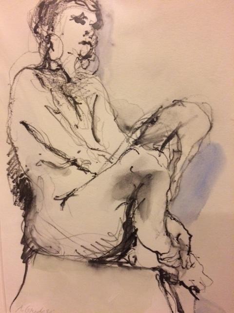 Adele Grodstein,  Blue Shadow,  Graphite