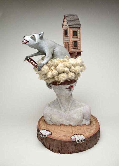 "Matthew Dercole -  ""Figure Study (imprinted wants of simplicity""  (23"" x 16"" x 14"") -  $3200"