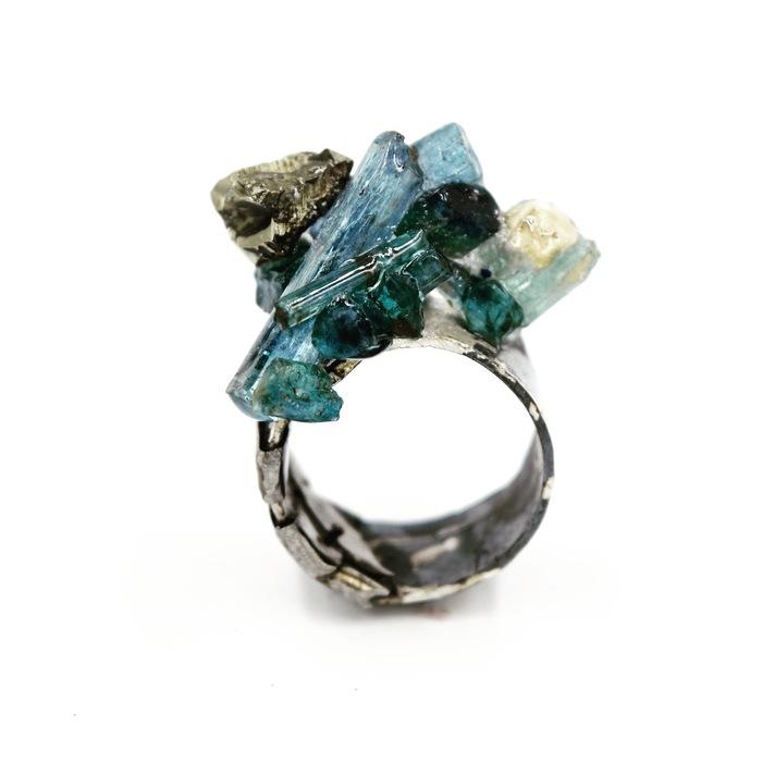 """Jill Herlands - """"  Ocean Ring""""  (.75"""" x .50"""")  $519.00"""