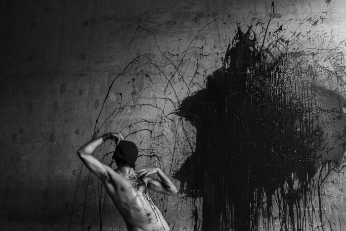 "Zitro -  ""Wretched Mind"" (self-portrait)  (20"" x 24"") -  $400"