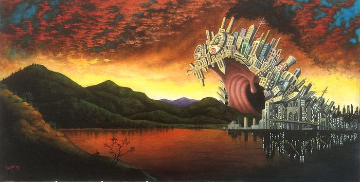 "Wayne F. Swarthout -  ""Nature's Twilight""  (10"" x 20"") -  NFS"