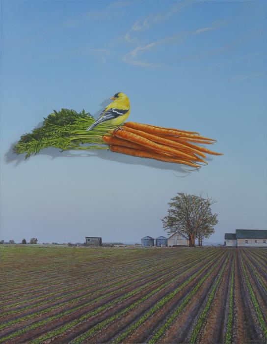 "Randy Van Dyck  ""14 Carrot Gold  "" (14"" x 18"")  $2600"