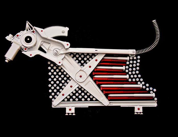 """Mel Wolk - """"Canine America""""  (19""""x 31"""") -  $2500"""