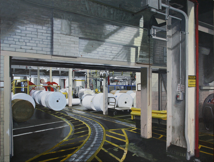 "Paul Chapman-  ""Floor Conveyor"" (32"" x 42.5"") -  $3800"