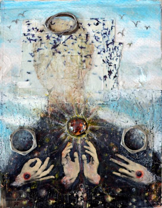 "Debra Friedkin- ""Emergence"" (12"" x 10"") - $1950"