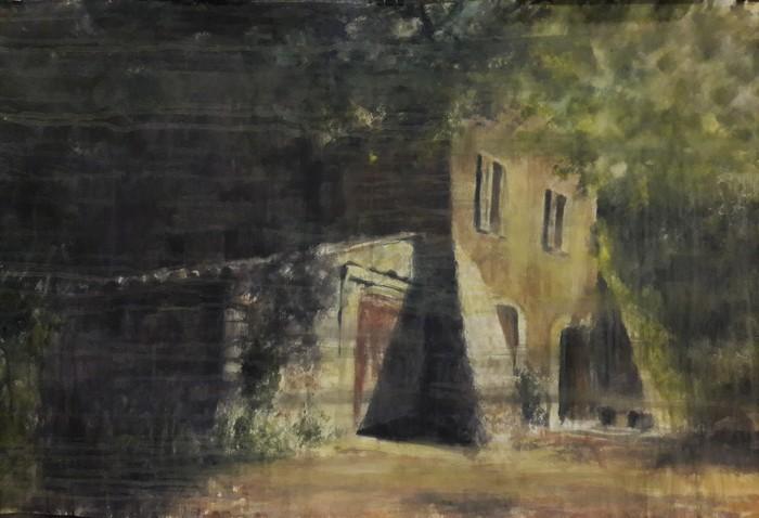 """Mitsu Haraguchi-  """"La Maison Maria No.2"""" (30"""" x 45"""") -  $2800"""