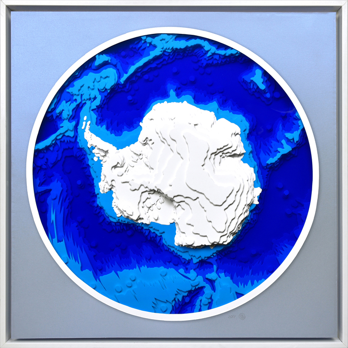 "Olga Skorokhod-  ""Antarctica"" (20""x 20""x 2"") -  $2300"