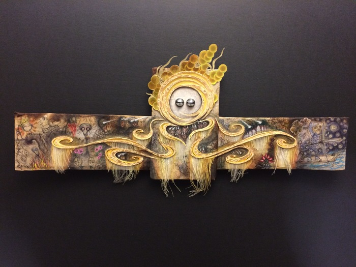 "Jonathan Barrios-  ""Golden Goddess"" (17"" x 7"") -  $1200"