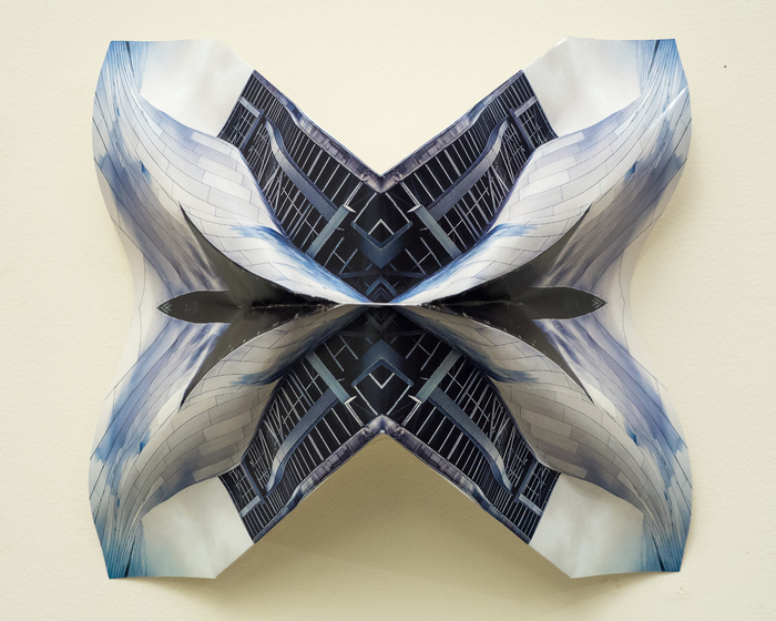 """Thom Williams ,  Catch the Wave , folded photographic paper (24"""" x 3-"""" x 9"""") $400"""
