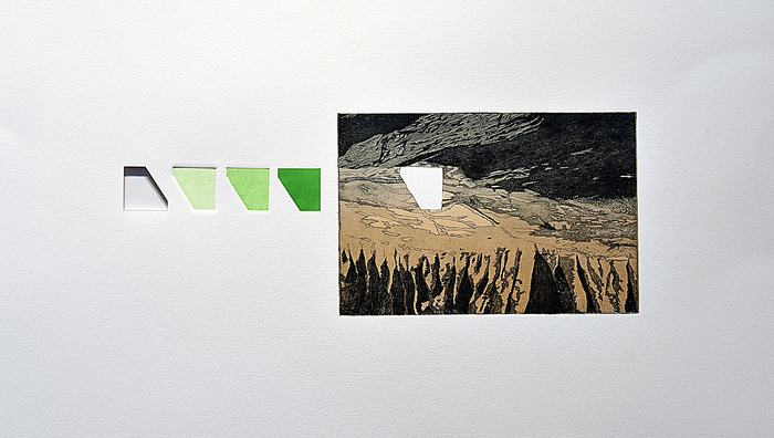 "Brigitte Caramanna  ""Parallel Portal""  (22"" x 24"") -  $900"