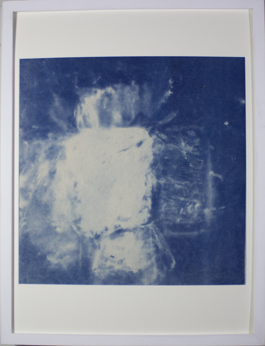 "Lindy B. Soffer -  ""Photogram with Drawing Materials (1)""  (17"" x17"") -  $750"