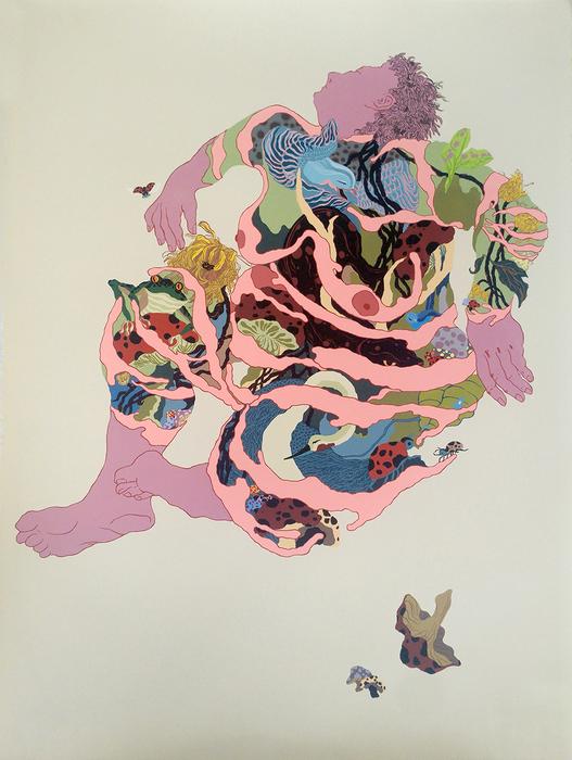 """Beibei Chen & Leilei Chen  """"Gaia I""""  (31"""" x 23"""") Hand Screen Print -  $2000"""