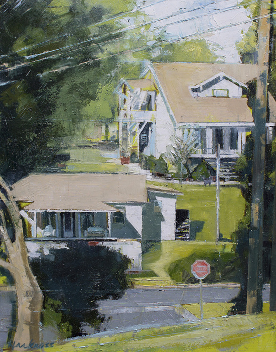 "Anne Harkness  ""Our House Is A Very Very Very""  (24"" x 30"") Oil -  $2400"