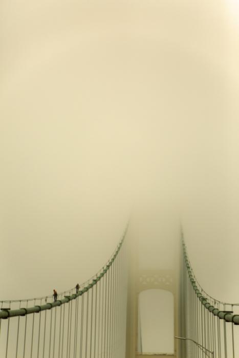 """Darcy Dangremond  """"Bridge Walkers""""  (24.25"""" x 17.5"""") Photography -  $425"""
