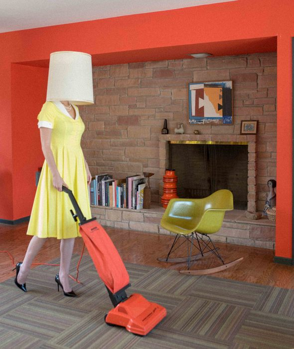 """Jenny Ashley -   Housewife Orange -   Chromogenic Print (24"""" x 36"""")  $300"""