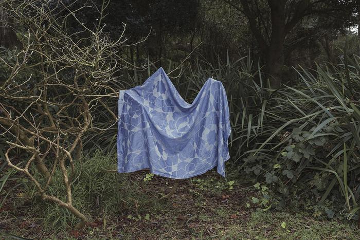"Cecilia Borgenstam -   Blue table cloth. Draped, out to dry. 2018 -   Archival pigment print (23"" x 34.5"")  $1200"