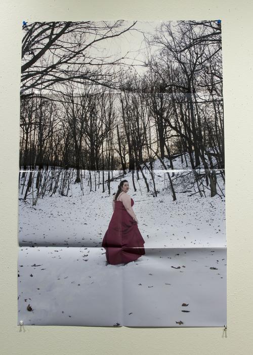 "Gwendolyn Anne Davies -   Self-Portrait: Red -   Poster Print (24"" x 36"")  $250"