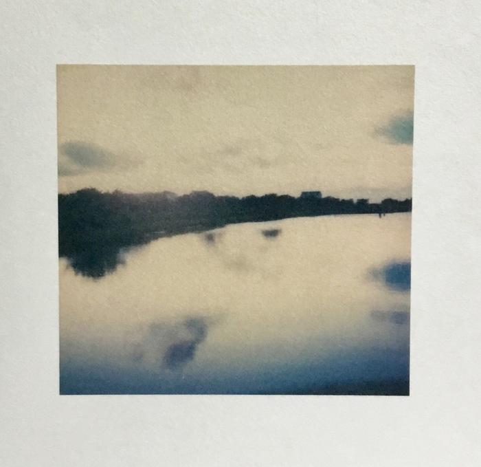 "Rosemary Fallon -   Water and Light I -   Inkjet print on Japanese kozo paper from Polaroid original (6"" x 6"")  $125"