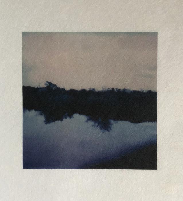 "Rosemary Fallon -   Water and Light II -   Inkjet print on Japanese kozo paper from Polaroid original (6"" x 6"")  $125"