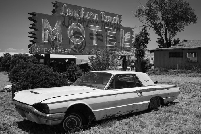"Roberto Hull -   Longhorn Ranch Motel -   Archival Inkjet Print (8"" x 10"")  $125"