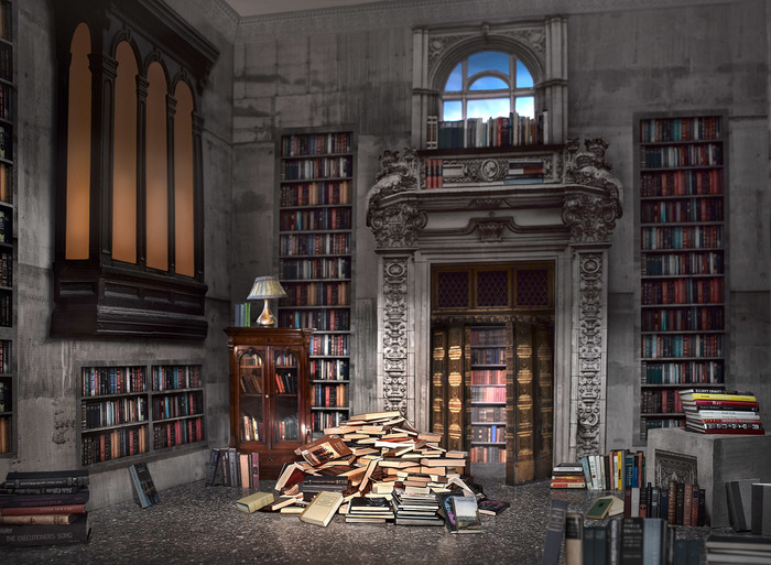 """John Manno -   The Library -   Archival Pigment Print (30"""" x 22"""")  $750"""