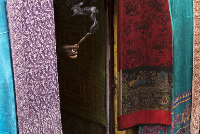 "Tad Philipp -   Jaisalmer Textile Shop -   Digital Photography (18"" x 24"")  $450"
