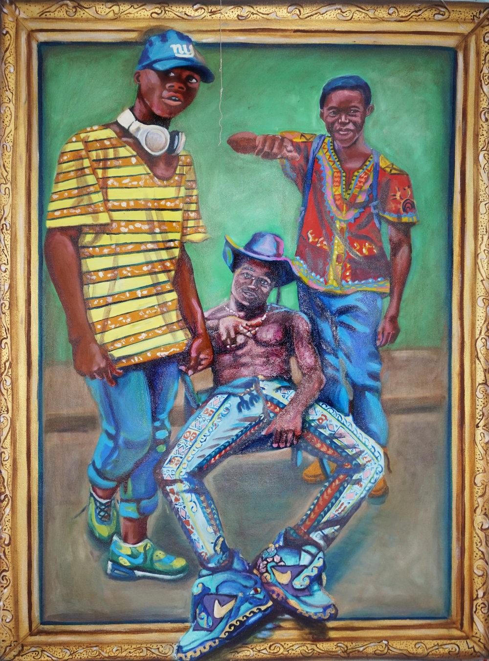 "Emmanuel Ofori   ""UnAware""   (3' x 4')  $1100"
