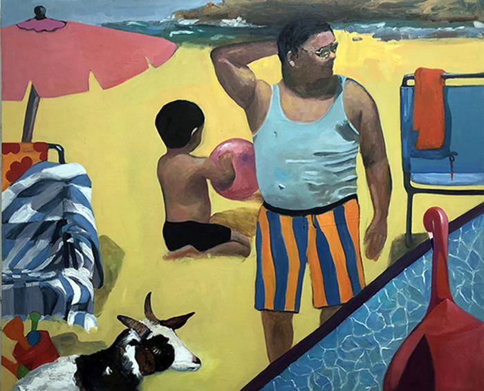 "Jessica Alazraki -   The Bathers 2-   Oil on Canvas (60"" x 72"")  $5000"