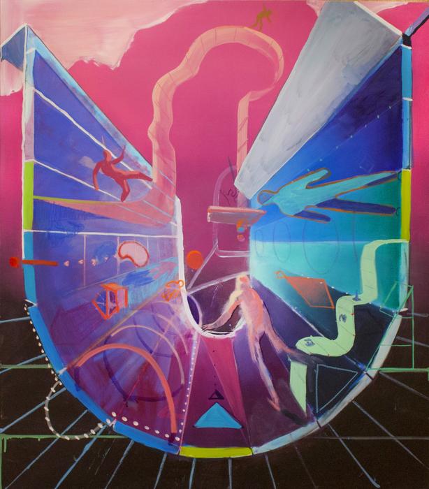 "Joseph Kameen -   The Tempest     -   Oil on Canvas (40"" x 35"")  $1500"