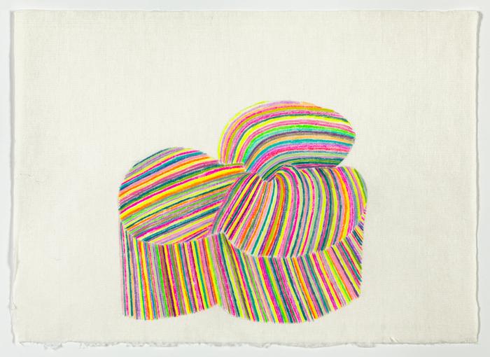 "Ellen Weider -   Coalesce     -   Colored Pencil on Paper (12"" x 17"")  $450"