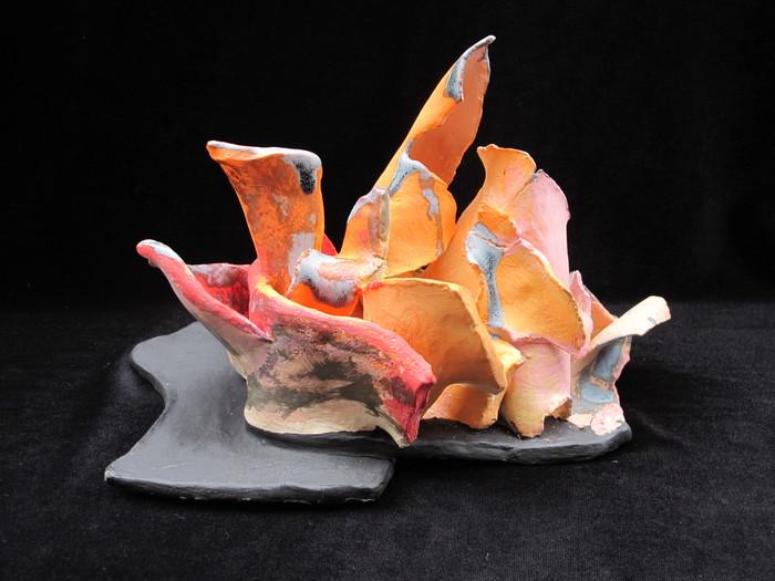 "Tina Cerro -   Burning Like Pele     -   Ceramics (9"" x 13"" x 9"" )  $500"