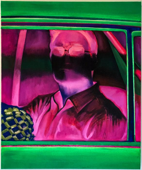 "Won Seok Chang -   Voyeurism     -   Acrylic and Oil painting (20"" x 24"")  $950"
