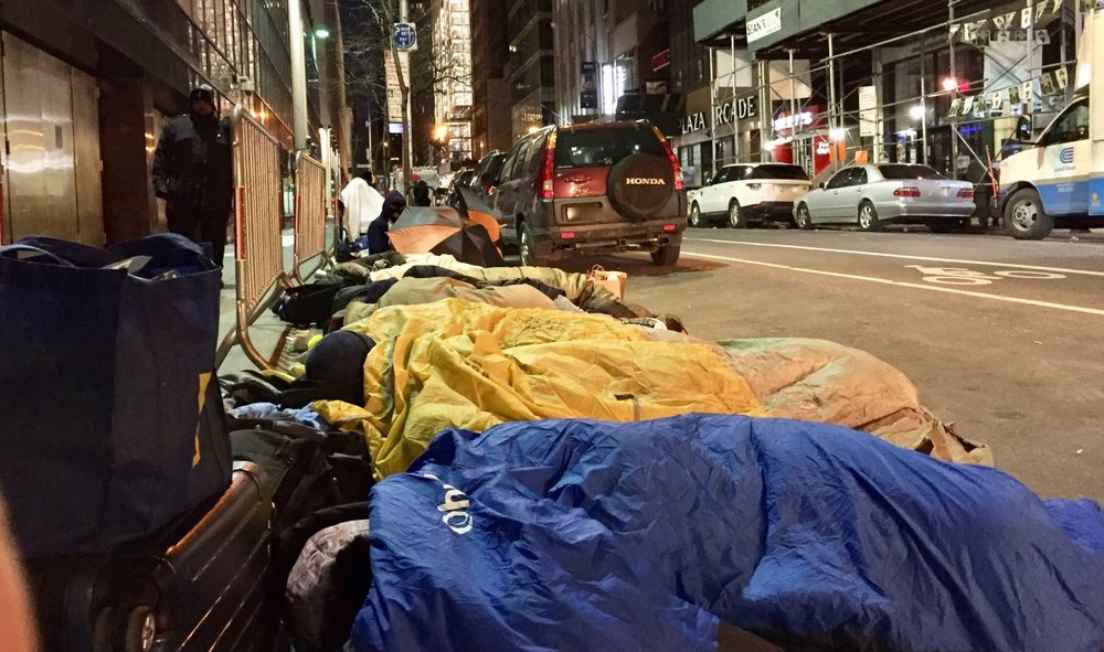 sleeping outside to get tickets to SNL