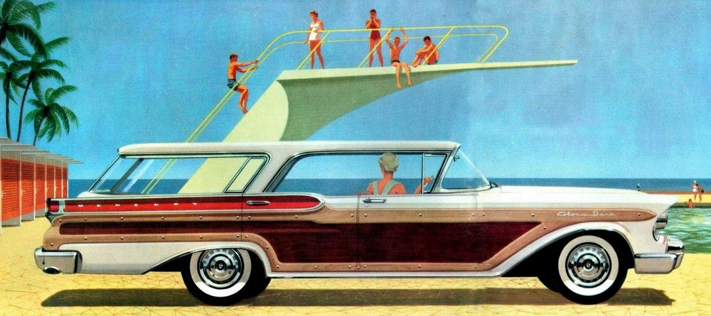The luxurious Mercury Colony Park hardtop wagon of 1958