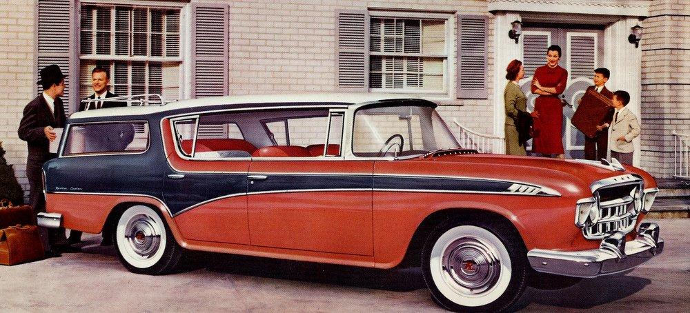 The weird looking American Motors Rambler Cross Country wagon