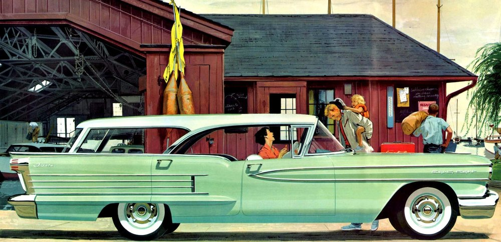 The magnificent, over the top, and expensive 1958 Oldsmobile Fiesta Holiday hardtop wagon