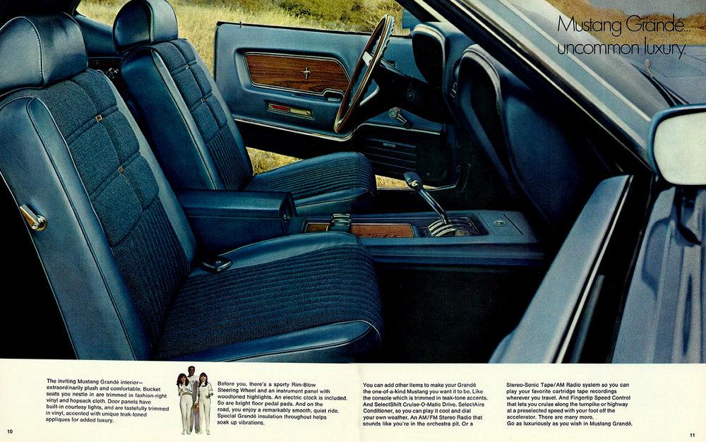 1969 Mustang Grande interior