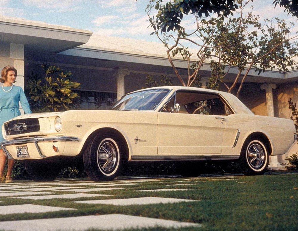 1966 Mustang hardtop publicity shot