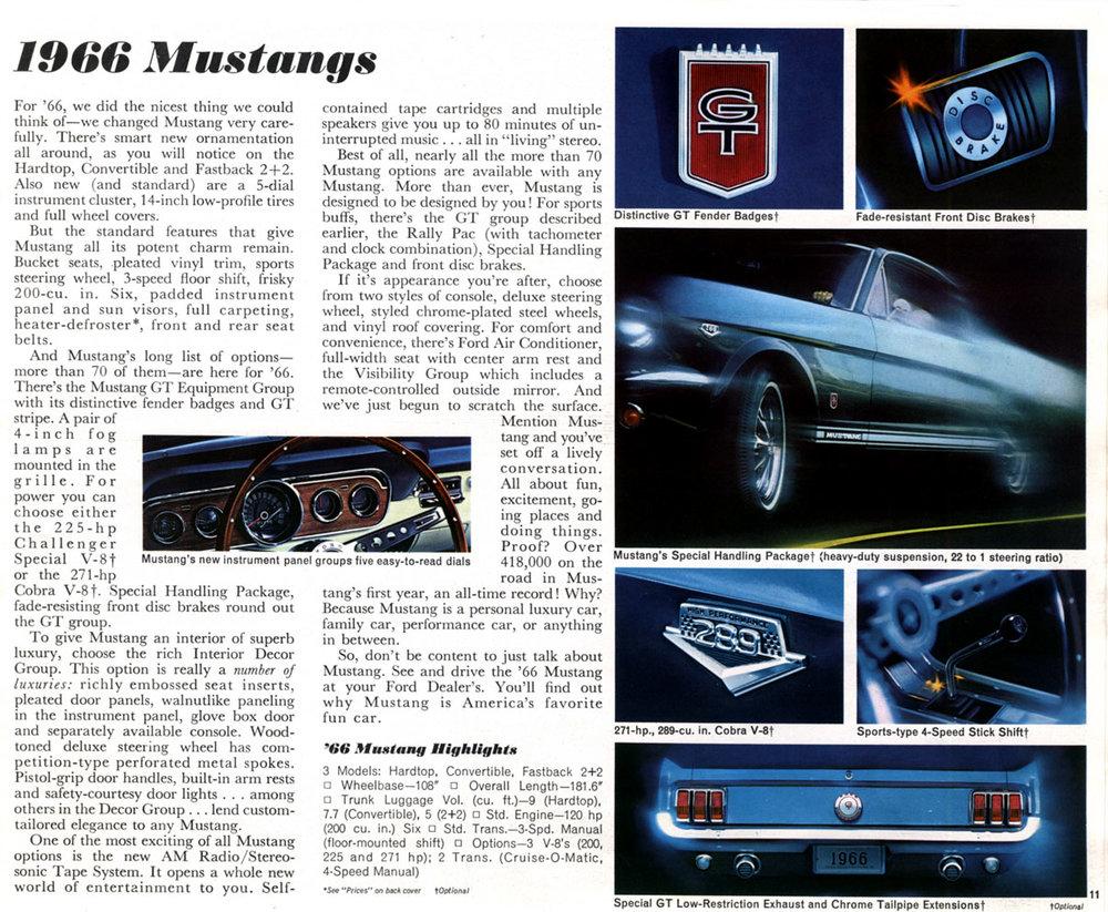 1966 Mustang options