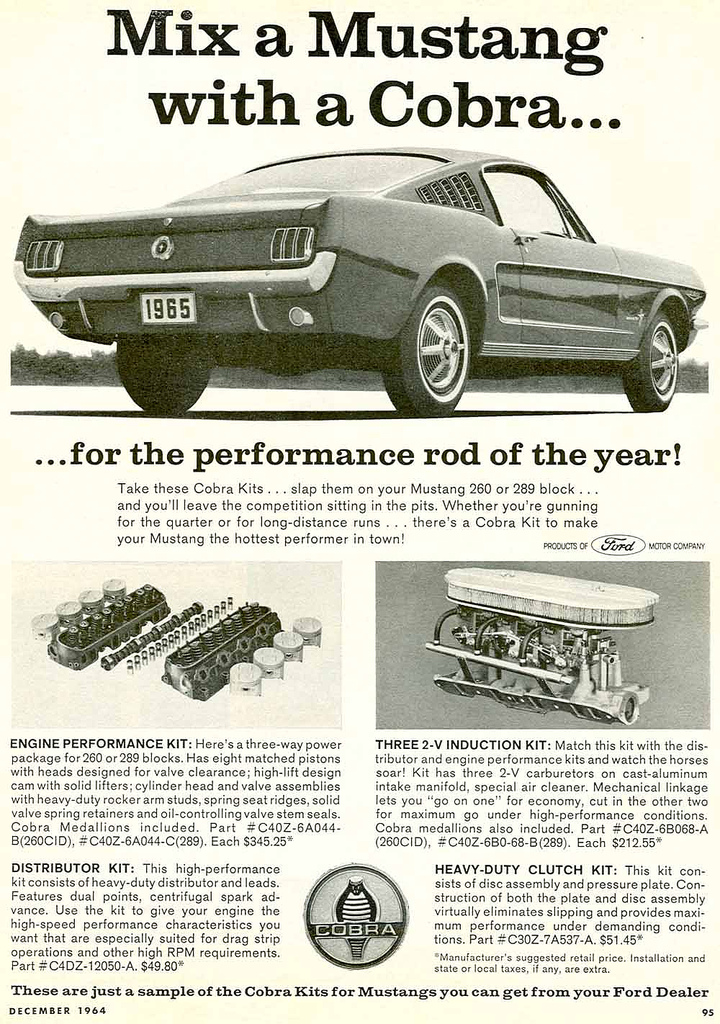 1966 - mix a Mustang with a Cobra