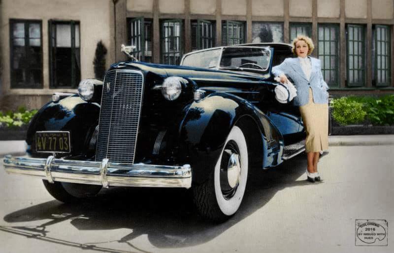 Marlene Deitrich and her '36 Cadillac V16