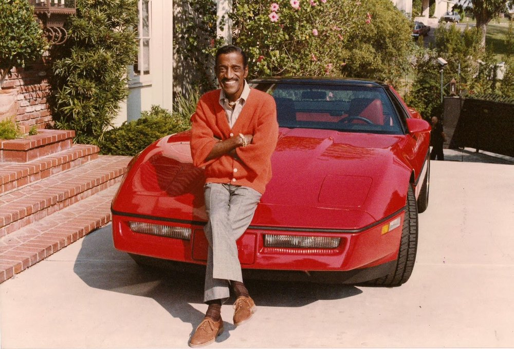 Sammy Davis Jnr and his C4 Corvette