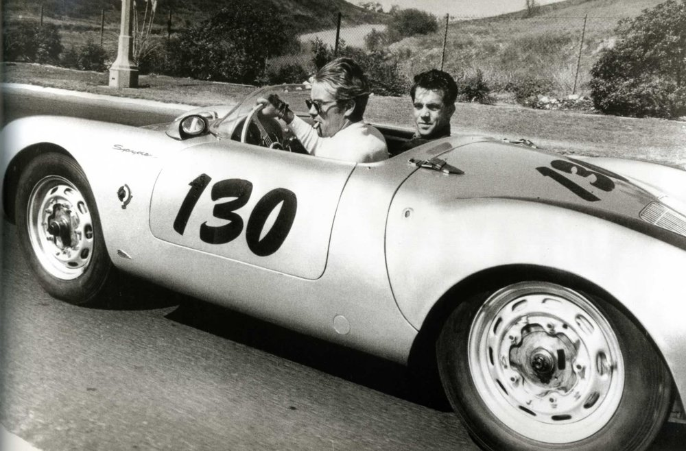James Dean and his Porsche Spyder racer