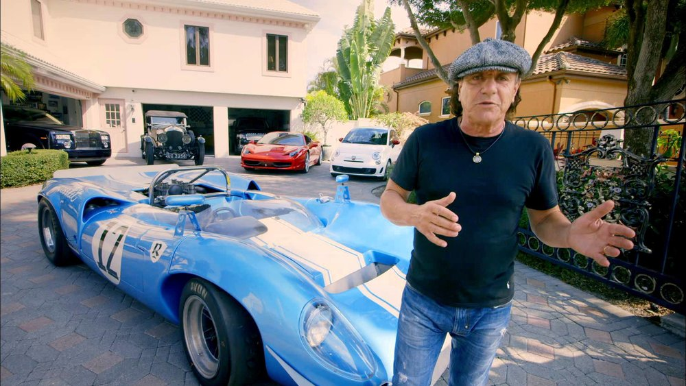 AC/DC's Brian Johnson & 1965 Lola T70 race car