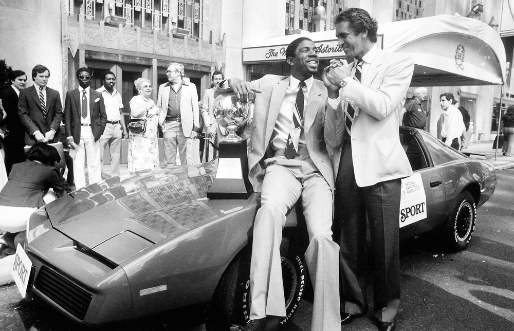 Magic Johnson wins a Trans Am
