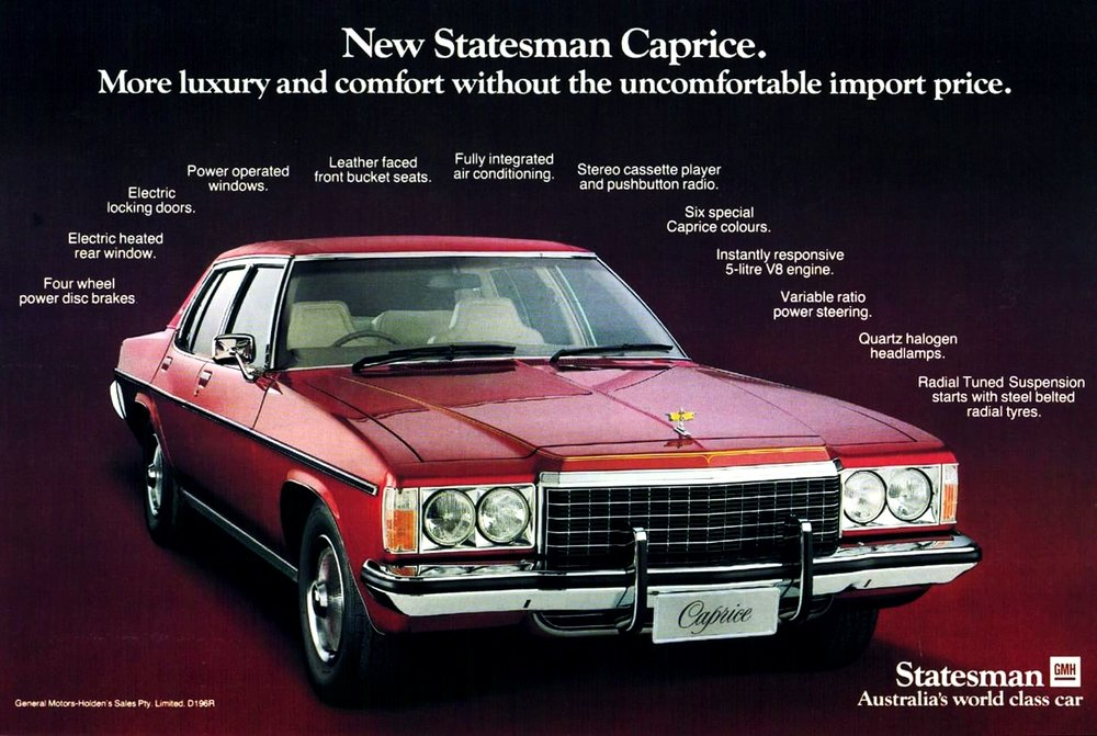 1978 HZ Caprice - top of the range and with RTS, a handler too