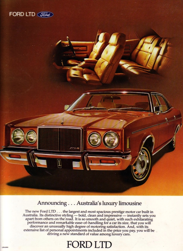 Ford Ltd of 1979 with what became known as the 'Rolls Royce front'