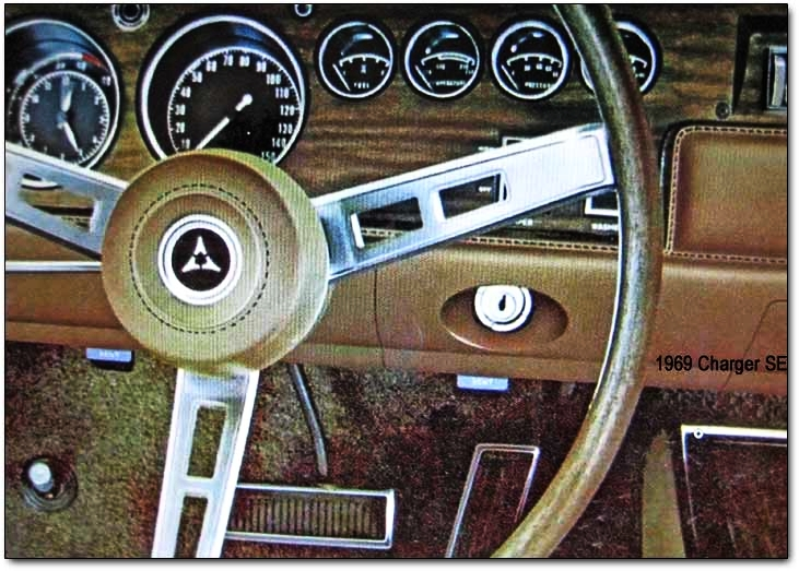 No idiot lights here - the functional instrument panel of the Charger was tailored to serious drivers.