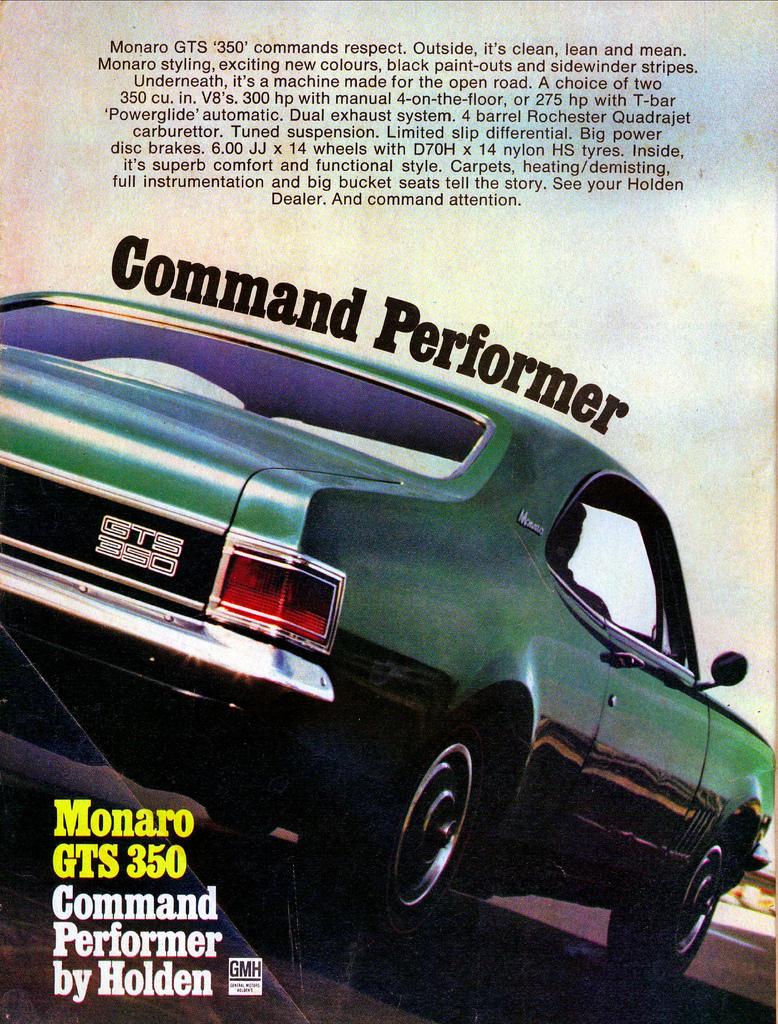 1970 HG GTS Monaro - the command performer